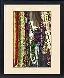 Framed Print of King Kamehameha Statue, Flower leis for Kamehameha Day, Kapaau, North Kohala