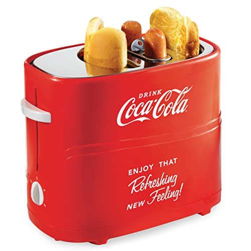Nostalgia HDT600COKE Coca-Cola Pop-Up Hot Dog Toaster -