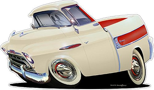 1957 Chevy Cameo Truck WALL DECAL 2ft long Chevrolet Car Sport Classic Vintage Graphic Sticker Photo Man Cave Garage Boys Bedroom Decor ()