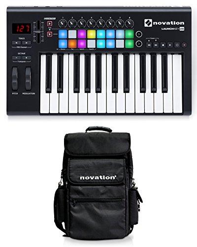 Novation LAUNCHKEY-25-MK2 25-Key USB MIDI Ableton Keyboard Controller+Carry Bag