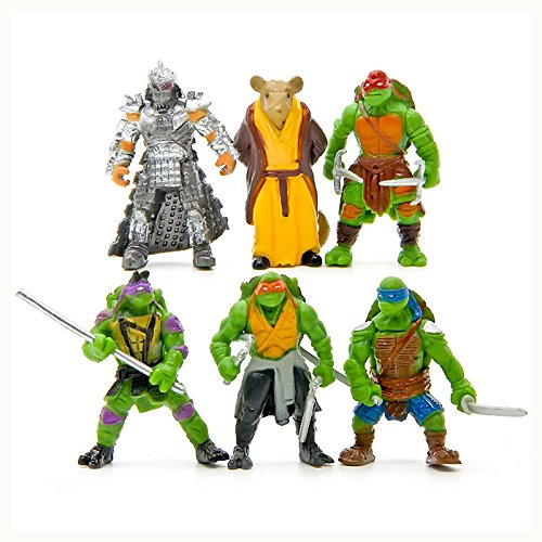 New 6Pcs Teenage Mutant Ninja Turtles TMNT Action Figures Collection Toys Set