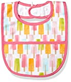 Mud Pie Baby Laminated Bib Girl, Popsicle, One Size