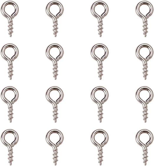 Mini Eye Pins Tiny Jewellery Screw for half drilled beads Bail pegs