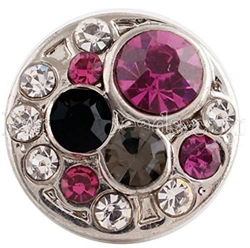 Rockin Angels Pink Black Rhinestone 12mm Mini Petite Charm for Ginger Snaps Magnolia Vine