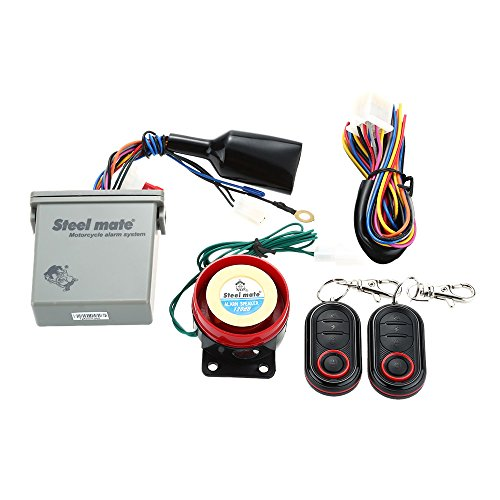 Steelmate 986E 1-weg-alarmsysteem voor motorfiets, motor, afstandsstart, met mini-zender