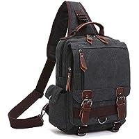 Maya Karis Purse Unisex Lightweight Multi Pockets Canvas Small Backpack