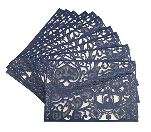 Dried Wedding 20pcs Wedding Invitations Card, Irregular Laser Cut Invitations with Envelop, Prefect for Bridal Baby Shower, Engagement,Birthday Party,Graduation,Christmas -