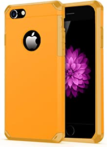 iPhone 7/8 Case, ImpactStrong Heavy Duty Dual Layer Protection Cover Heavy Duty Case for Apple iPhone 7/8 (Orange/Yellow)