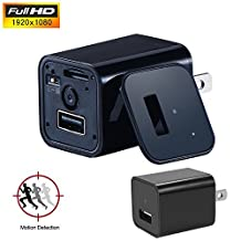 Motion Detection Mini Camera, Moosoo 1080P HD USB Wall AC Plug Charger Adapter Home Security Covert Camcorder