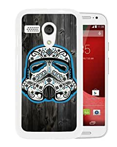 Newest And Fashionable Motorola Moto G Case Designed With Tribal Stormstrooper On Wood White Motorola Moto G Screen Cover High Quality Cover Case