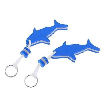 Homyl 2 Pcs de Llaveros Flotadores de Forma Tiburón para Deportes de Agua de Pesca Paseo en Bote Material de EVA - Azul: Amazon.es: Deportes y aire libre