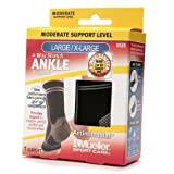 Mueller Sport Care 4-Way Stretch Ankle Support, Moderate Support, Model 6528 - 3PC