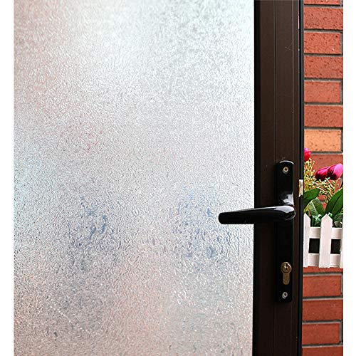 Mikomer Privacy Window Film,Decorative Glass Door Film,Static Cling Window Tint,Removable/No Glue/Anti UV for Home and Office Decoration,17.5In. by 78.7In.