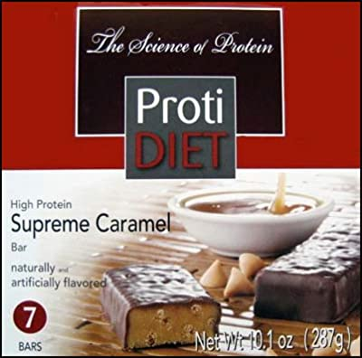 Protidiet Supreme Caramel (With Chocolate) High Protein Bars (Box of 7)