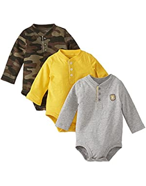 Carter's Baby Boys' 3 Pack Jersey Bodysuits (Baby) - Assorted