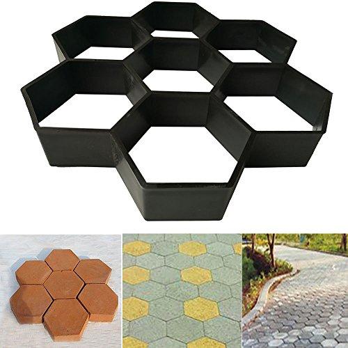 Stone Road Concrete Mold Garden Stone Road DIY Mold Plastic Path Maker Mold
