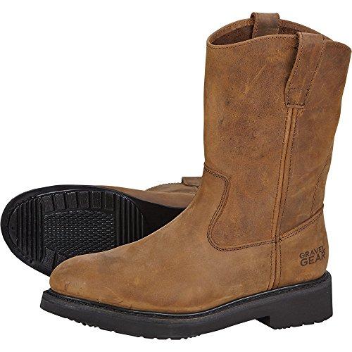 Gravel Gear Men's 10in. Steel Toe Wellington Boot - Crazy Horse Brown, Size 10 1/2 Wide