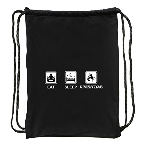 Eddany Eat sleep Freestyle Wrestling Sport Bag by Eddany