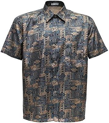 Camiseta para hombre de manga corta de seda tailandesa estampado ...