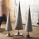Metal and Textured Tree Topiaries - Set of 3