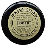 30 x Sugarflair GOLD Edible Liquid Colour Paint for Sugarcraft Cake Decoration