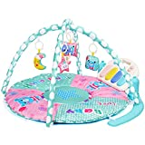 Amagoing Large Activity Gym Kick and Play Piano Tummy Time Play Mat with 5 Activity Toys for Baby/Infant, Newborn Toy for Girl and Boy 0-36 Month