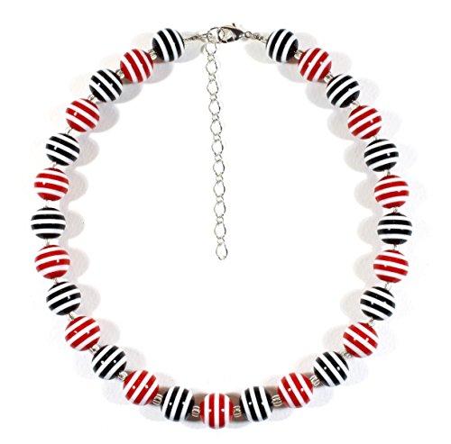 Stripey Black Red Striped...