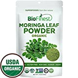 freeze dried greens powder - Biofinest Moringa Leaf Powder - 100% Pure Freeze-Dried Antioxidants Superfood - USDA Organic Vegan Raw Non-GMO - Boost Digestion Immune System - For Smoothie Beverage Blend (4 oz Resealable Bag)