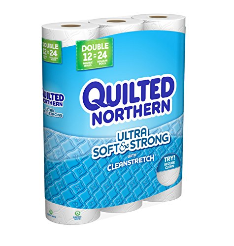 Quilted Northern Ultra Soft & Strong Toilet Paper, 12 Double Bath Tissue Rolls>