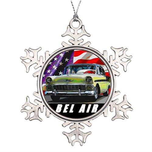 [7th Gener Tree Branch Decoration 1956 Bel Air 2 Door Sedan Make Christmas Tree Decorations Track Racing] (Bel Air 2 Door Sedan)