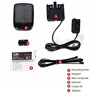 Bike Speedometer for Mens, 1Pcs Waterproof Wireless Road Bike Computer Speedometer With Larger LCD Screen Display Electric Mountain Bicycle Odometer for Cycling Motorcycle, Cycling Electronics