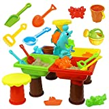Children's Beach Table Play Sandbox Set, Indoor Large Baby Play Sand Dredging Tools, Play Sand Toys Play Water Digging Sandglass Tools