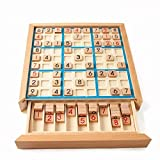 REGOU Wooden Sudoku Game, Puzzle Game with Wooden Number and Thinking Tiles/Board Games