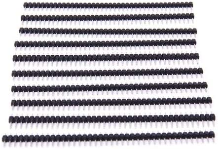 Occus 10pcs 40-pin Male Pin-Head of Single line Band of 2.54 mm Height Cable Length: Other