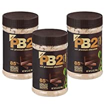 PB2 - Chocolate Peanut Butter, 85% less fat calories, 6.5 oz/184g 3-pack by PB2