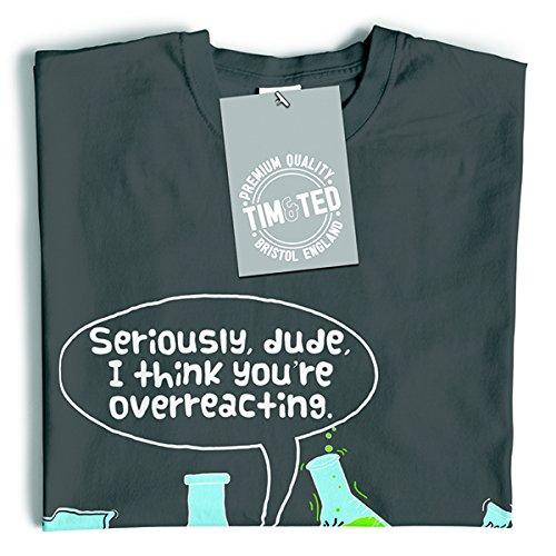 Tim and Ted Penso che tu sia esagerando, slogan stampato disegno della novità Geeky T-Shirt Da Donna