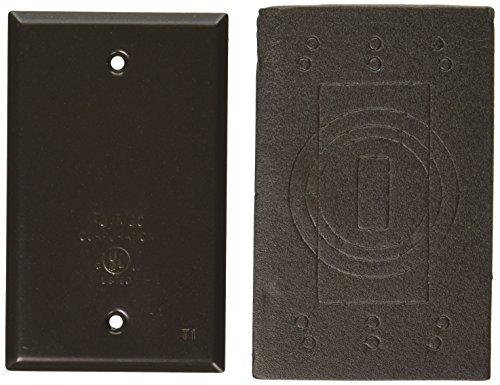 (TayMac BC100Z Weatherproof Metallic Device Cover, Blank, Single Gang, Bronze)