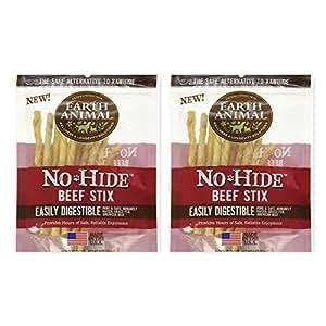 Amazon.com : Earth Animal No Hide Raw Hide Beef Stix, 10