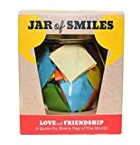 Love & Friendship in a Jar. Month of Thoughtful & Happy Quotations For Your Friends in a 314ml Orcio Glass Jar. Perfect Gift. 31 Multi-Colored Quotes.Be The Reason Someone Smiles Today- Gift box.
