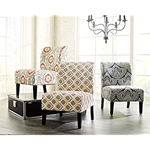 FurnitureMaxx Honnary Curve Back Fabric Accent Chair