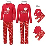Matching Family Christmas Pajamas Set,Vanvler Santa Claus Tops Blouse Pants Parent Child Red Sleepwear Clearance Sale (Daddy, 2XL)