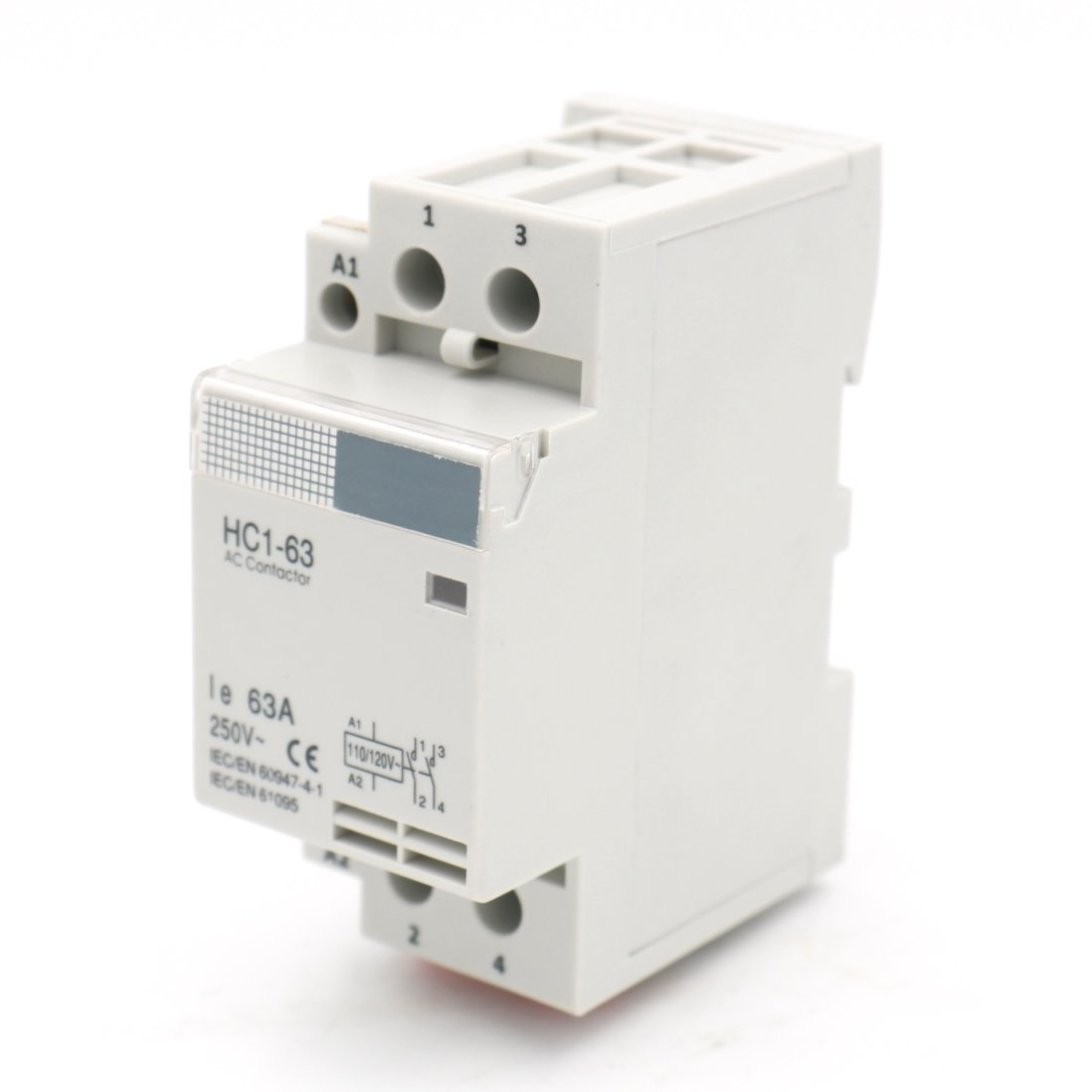 Baomain AC Contactor HC1-63 110V 63A 2 Pole Universal Circuit Control DIN Rail Mount