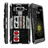 MINITURTLE Case Compatible w/ [Armor Reloaded] Compatible w/ [ LG G6 (2017), LG G6 Model VS988, H872] Shockproof Hybrid Stand Case Heavy Duty [MINITURTLE] Game Controller Retro