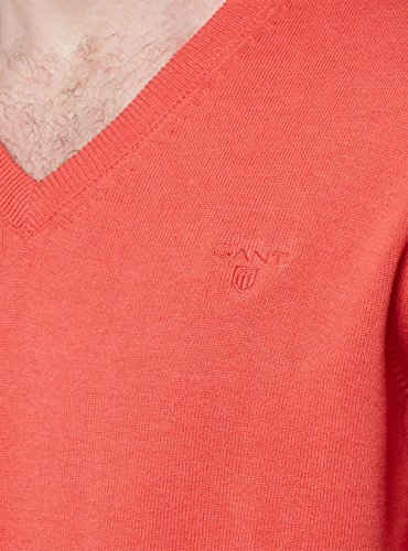 Gant Rosso 681 Weight neck Lt Uomo Maglia V Cotton 1rz1qp