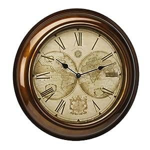 Amazon Com Widdop Bingham Hometime Wall Clock Gold Case
