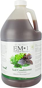 TeraGanix EM-1 (1 Gal.) - Natural Organic Microbial Inoculant - Plants and Soil | Nontoxic Active Probiotic Conditioner For Lawn Care | Eliminate Foul Odors and Improve Water Quality