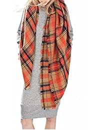 Women's Winter Fall Scarf Cozy Scarves Fashion Plaid...