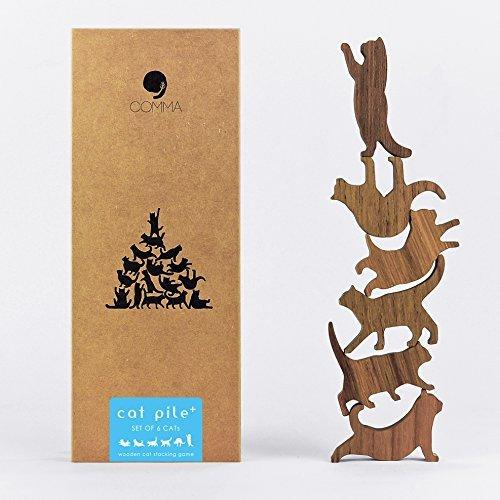 COMMA Jumbo Wooden Cat Pile Set #2 (Blue Label, 6 Kittens)