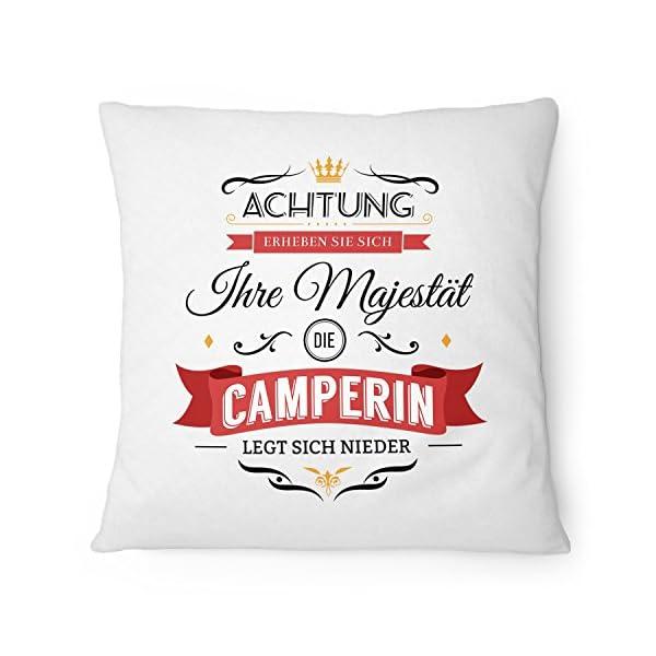 51gis5uq0NL Fashionalarm Kissen Ihre Majestät die Camperin - 40x40 cm mit Füllung | Lustige Geschenk Idee Camper Camping Urlaub…