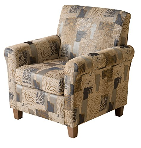 Denise Austin Home Siracusa Animal Print Club Chair by Great Deal Furniture